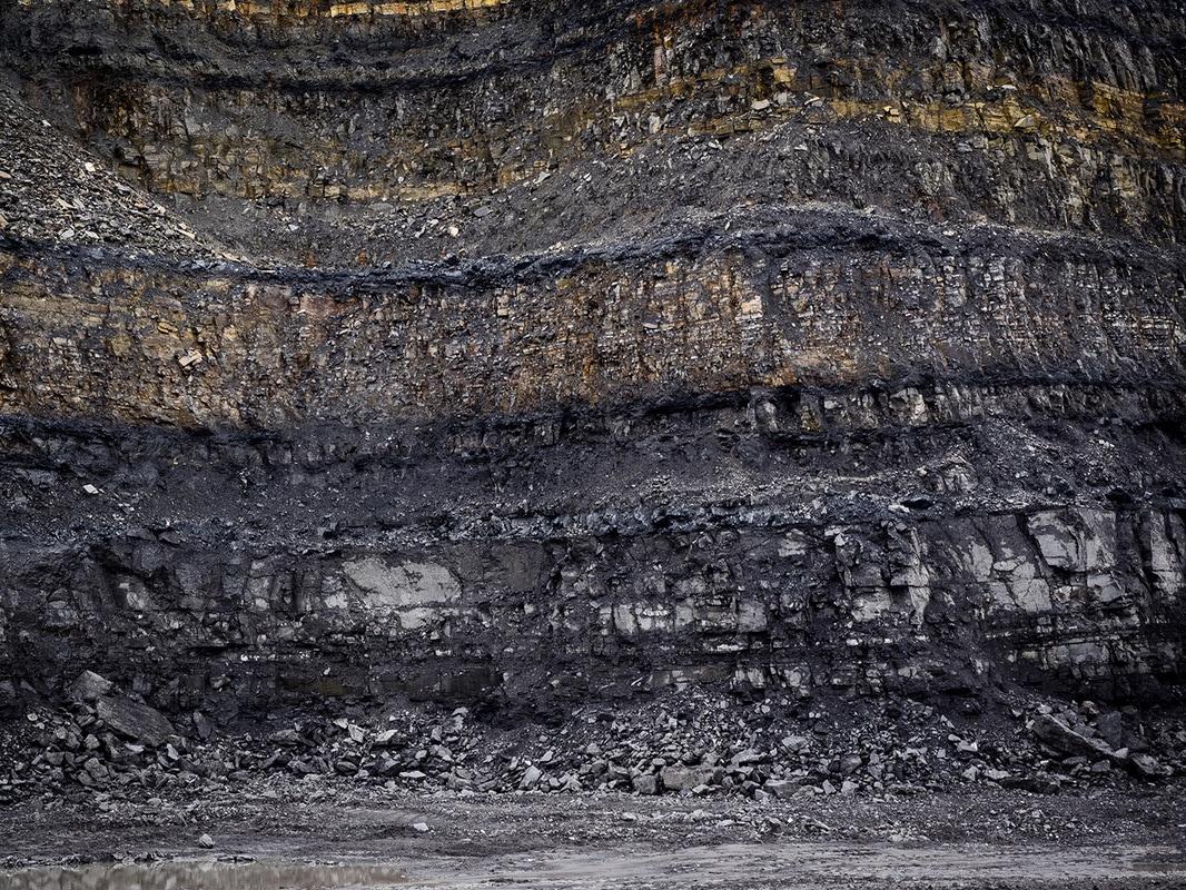 Exposed coal seam.