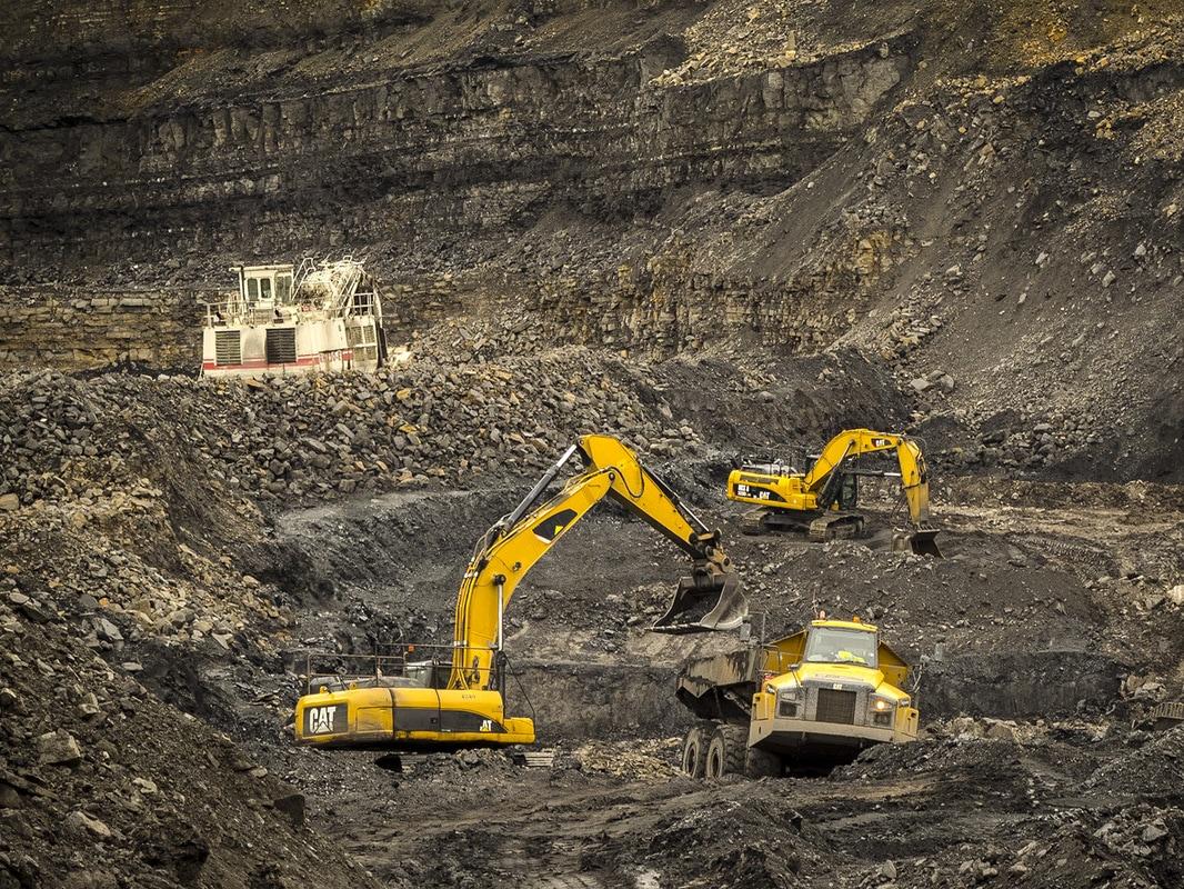 Surface mining machinery.