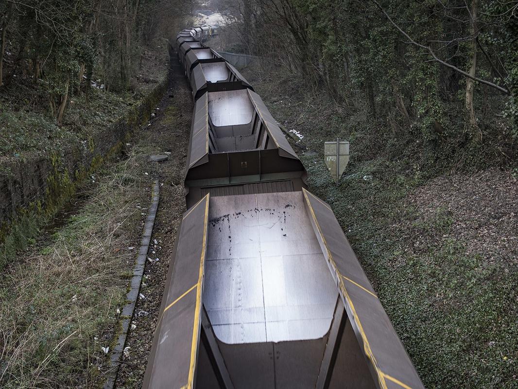 Unloaded train near Mountain Ash.